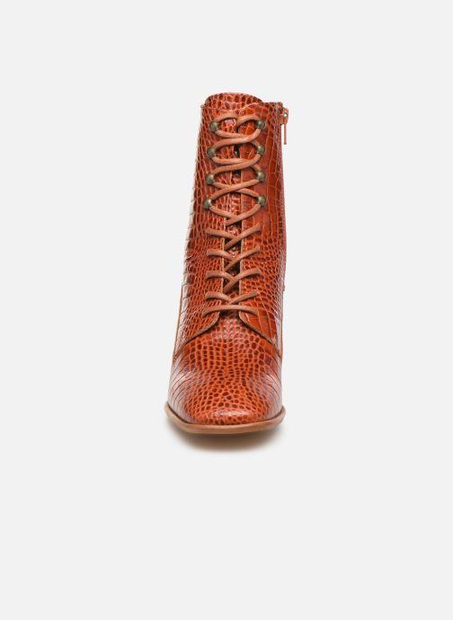 Ankle boots E8 by Miista EMMA Orange model view