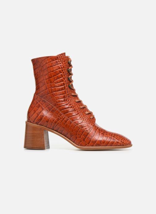 Boots en enkellaarsjes E8 by Miista EMMA Oranje achterkant