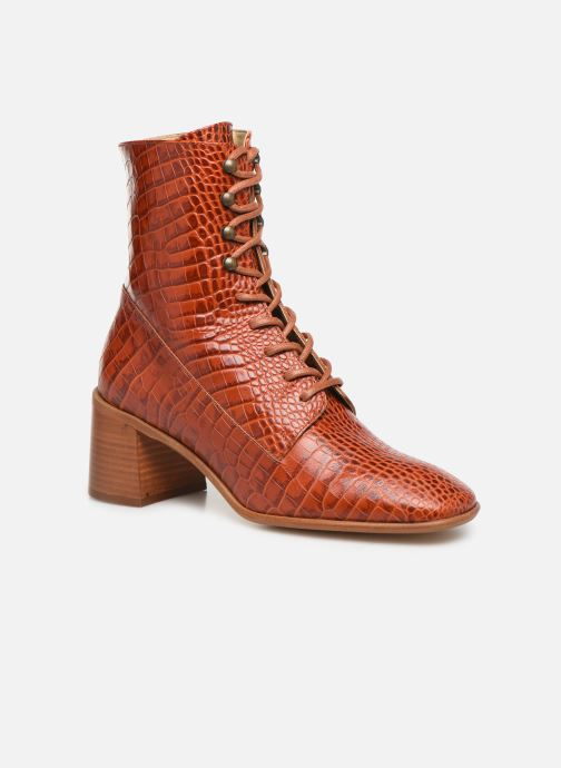 Boots en enkellaarsjes E8 by Miista EMMA Oranje detail