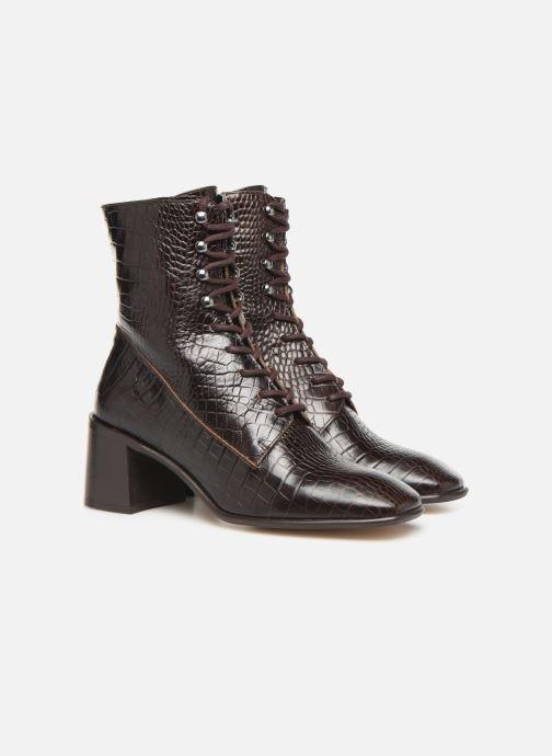 Boots E8 by Miista EMMA Brun 3/4 bild