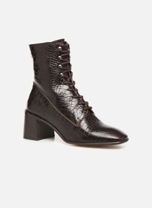 Boots en enkellaarsjes E8 by Miista EMMA Bruin detail