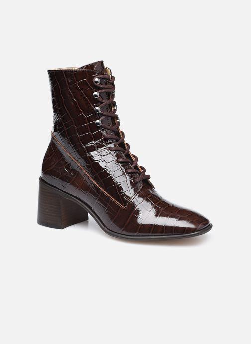 Bottines et boots E8 by Miista Emma Marron vue détail/paire