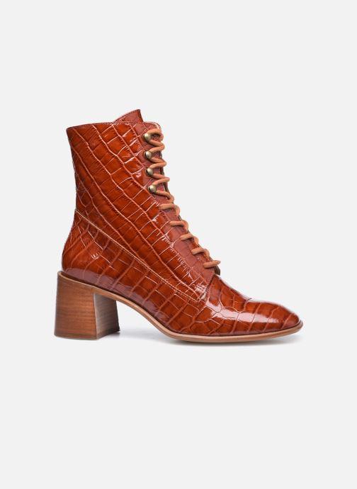 Boots en enkellaarsjes E8 by Miista EMMA Bruin achterkant