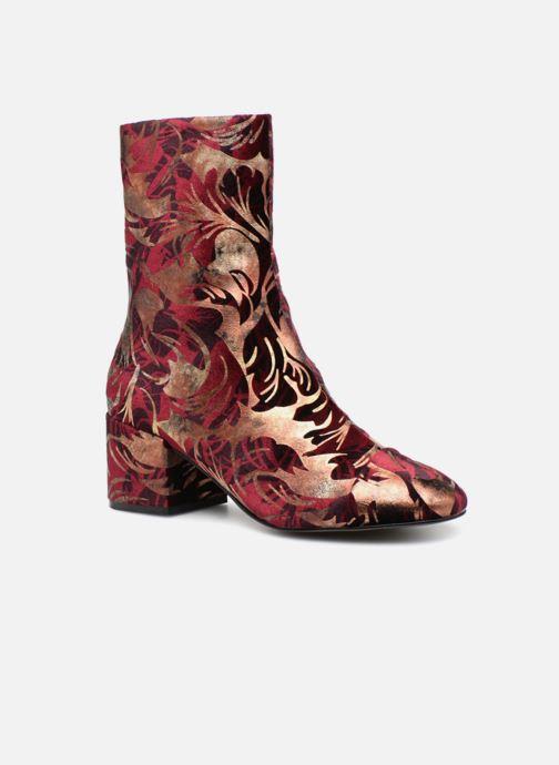 Bottines et boots E8 by Miista ISA Bordeaux vue détail/paire