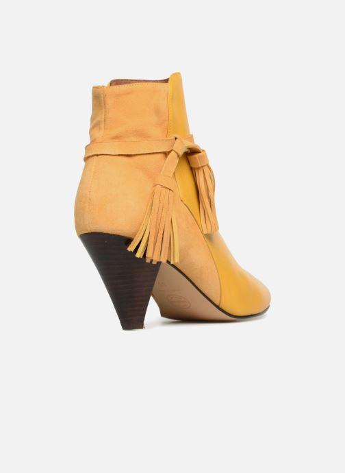 Bottines et boots Made by SARENZA Toundra Girl Bottines à Talons #7 Jaune vue face