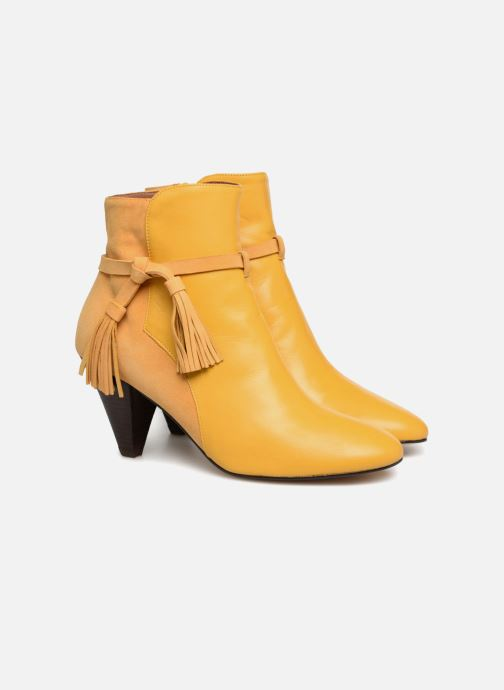 Bottines et boots Made by SARENZA Toundra Girl Bottines à Talons #7 Jaune vue derrière