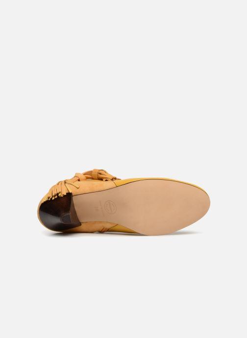 Bottines et boots Made by SARENZA Toundra Girl Bottines à Talons #7 Jaune vue haut