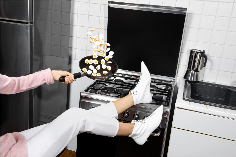 Stiefeletten & Boots Made by SARENZA Busy Girl Bottines Plates #1 weiß ansicht von unten / tasche getragen