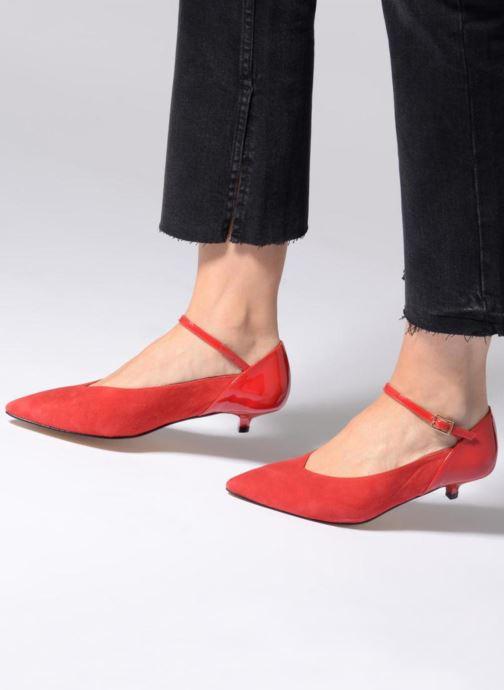 Escarpins Made by SARENZA 80's Disco Girl Escarpins #1 Rouge vue bas / vue portée sac