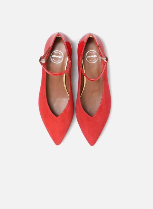 Décolleté Made by SARENZA 80's Disco Girl Escarpins #1 Rosso modello indossato