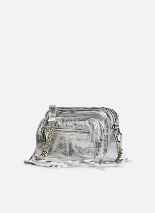 Handtaschen Rebecca Minkoff Solstice Camera Bag silber schuhe getragen