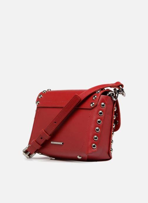 Handtaschen Rebecca Minkoff Bltyhe SM Flap Xbody rot ansicht von rechts