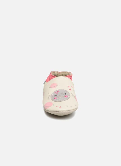 Chaussons Robeez Girly Space Blanc vue portées chaussures