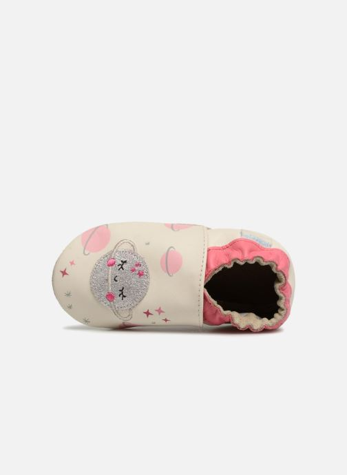 Chaussons Robeez Girly Space Blanc vue gauche