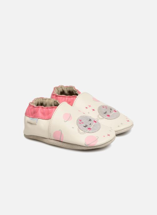 Slippers Robeez Girly Space White detailed view/ Pair view