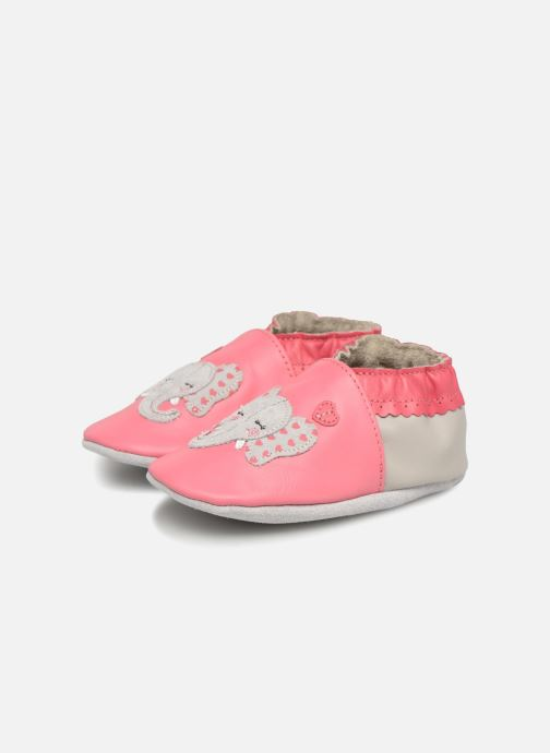 Slippers Robeez Girly Elefant Pink 3/4 view
