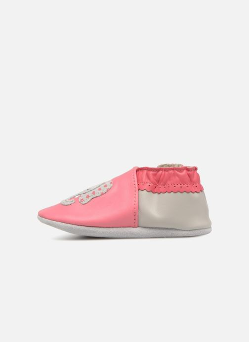 Chaussons Robeez Girly Elefant Rose vue face