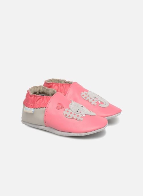 Slippers Robeez Girly Elefant Pink detailed view/ Pair view