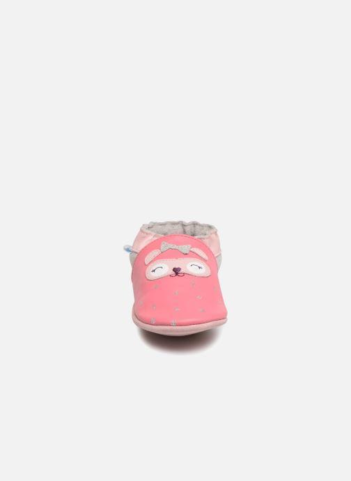 Chaussons Robeez So Cute Rose vue portées chaussures