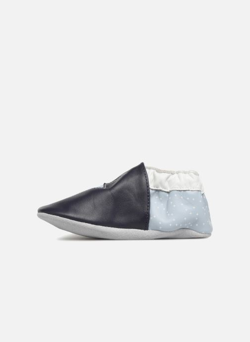 Chaussons Robeez Snowy Night Bleu vue face