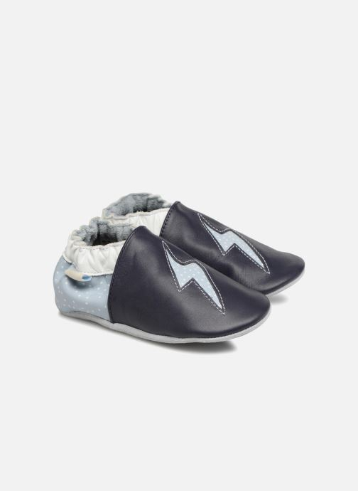 Slippers Robeez Snowy Night Blue detailed view/ Pair view