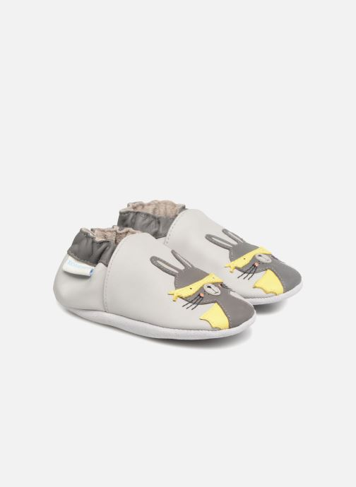 Slippers Robeez Super Rabbit Grey detailed view/ Pair view