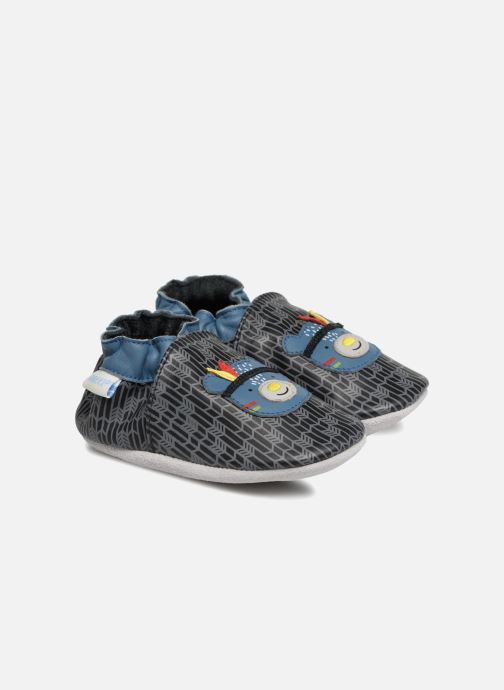 Slippers Robeez Wood Night Black detailed view/ Pair view
