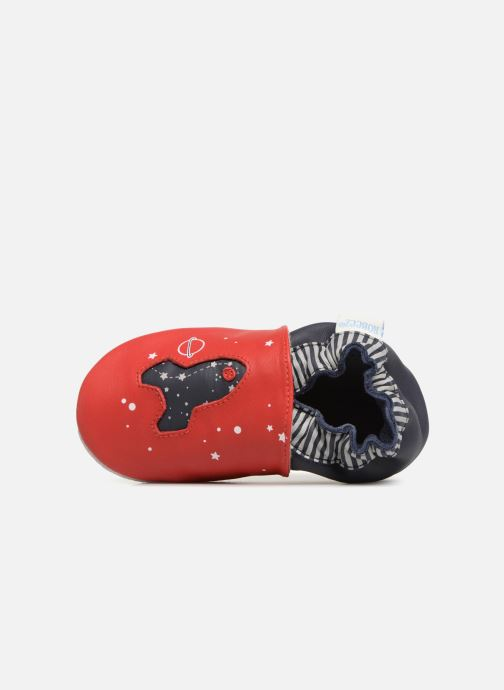 Slippers Robeez Planet Travel Red view from the left