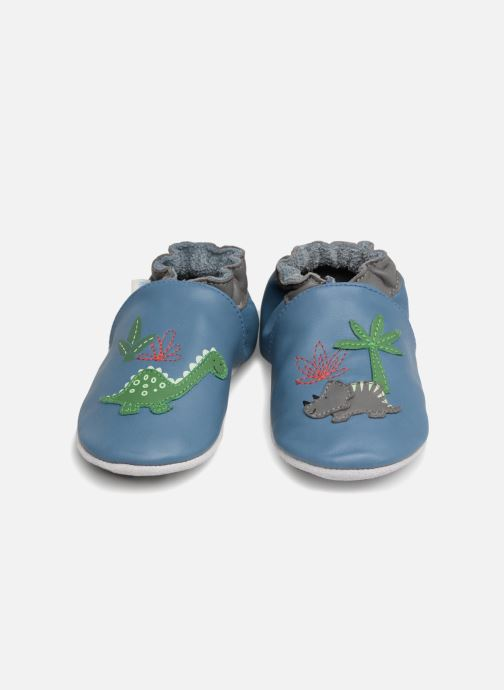 Slippers Robeez Dinorassic Blue 3/4 view