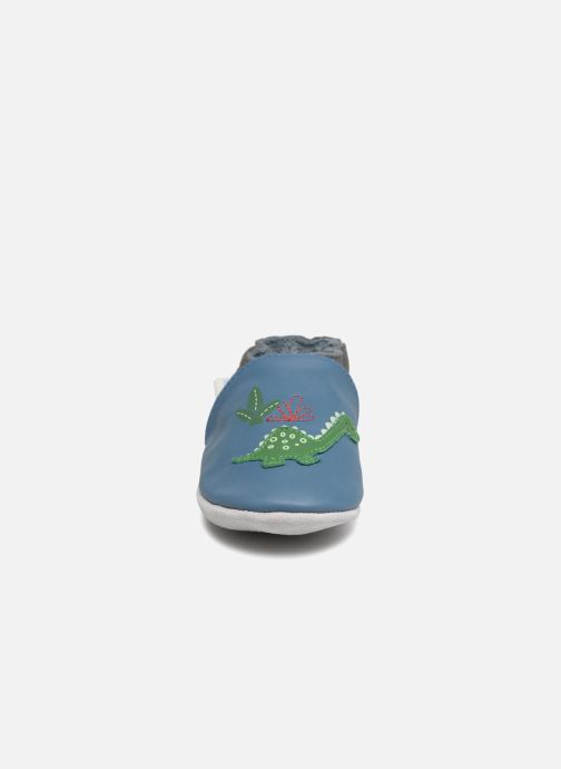 Hausschuhe Robeez Dinorassic blau schuhe getragen