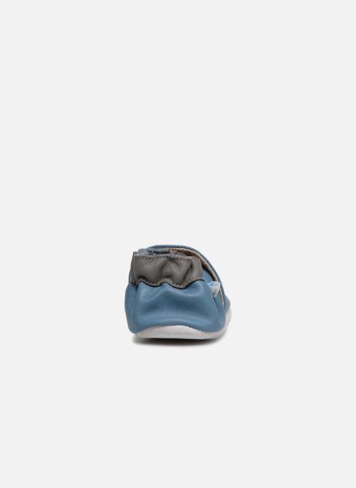 Hausschuhe Robeez Dinorassic blau ansicht von rechts
