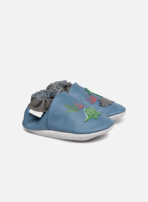 Slippers Robeez Dinorassic Blue detailed view/ Pair view