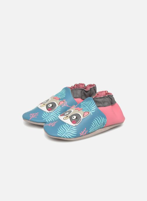 Slippers Robeez Racoon Sister Multicolor 3/4 view