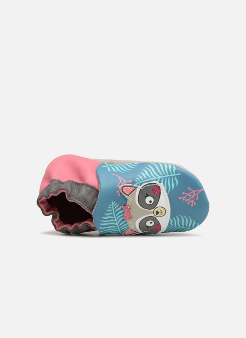 Slippers Robeez Racoon Sister Multicolor view from the left