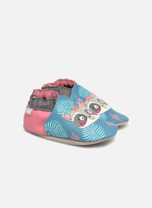Slippers Robeez Racoon Sister Multicolor detailed view/ Pair view