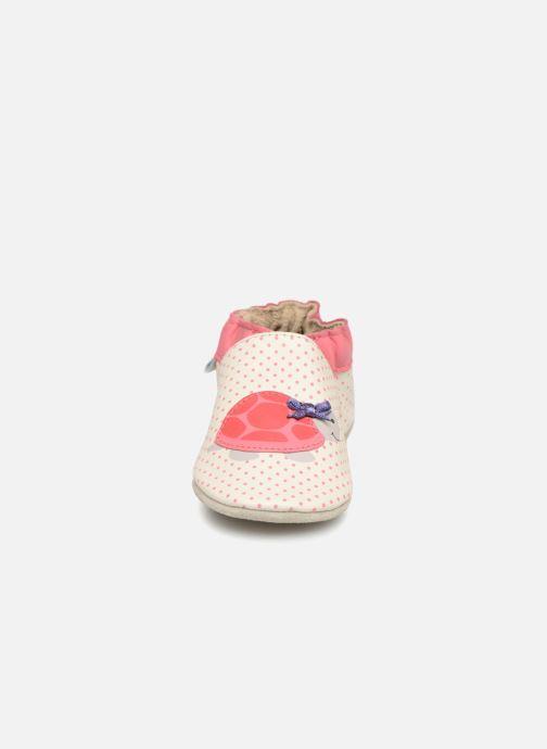 Chaussons Robeez Turtle Blanc vue portées chaussures
