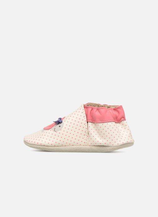 Chaussons Robeez Turtle Blanc vue face