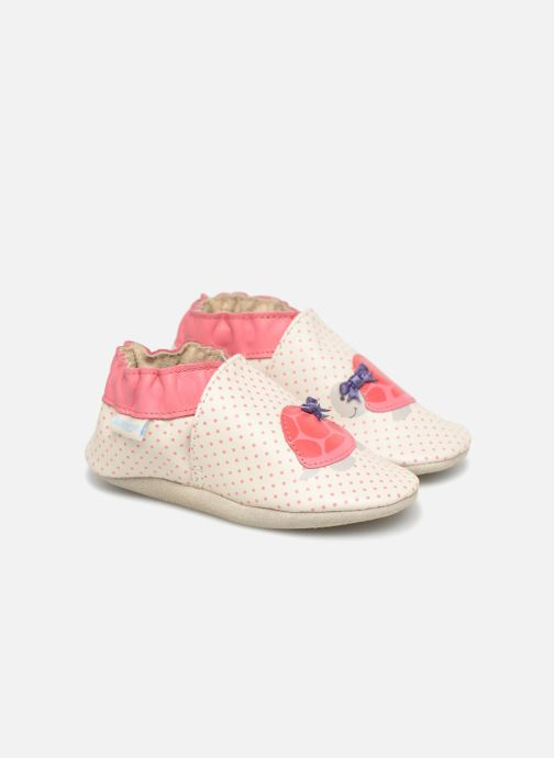 Slippers Robeez Turtle White detailed view/ Pair view