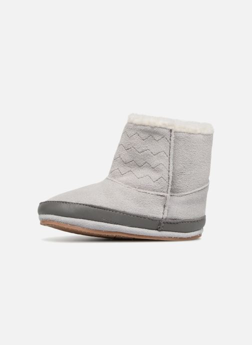 Slippers Robeez Boots Grey front view