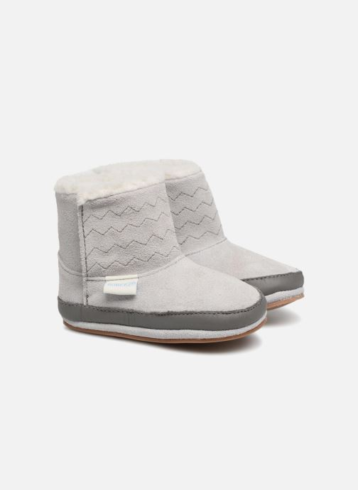 Slippers Robeez Boots Grey detailed view/ Pair view