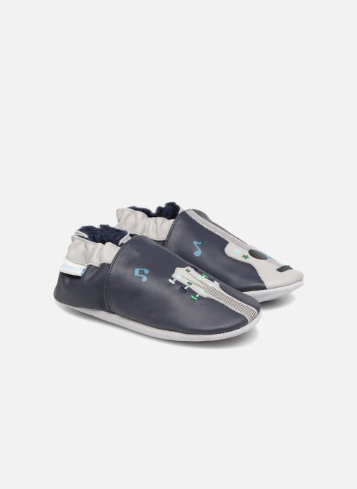 Slippers Robeez Music Style Blue detailed view/ Pair view
