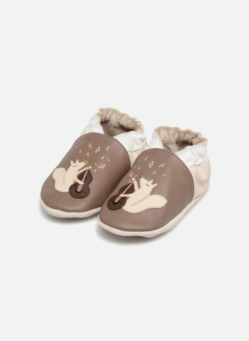 Slippers Robeez Singer Brown 3/4 view