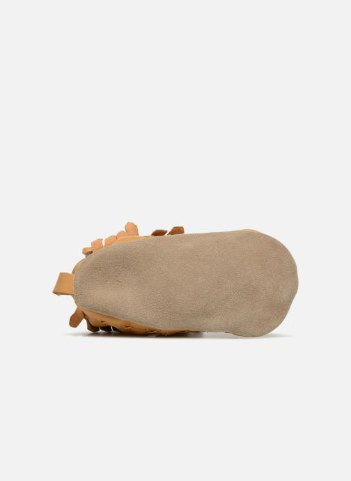 Chaussons Robeez Funky Shoe Jaune vue haut