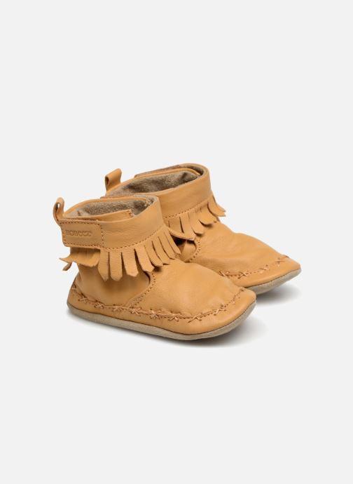 Chaussons Robeez Funky Shoe Jaune vue détail/paire