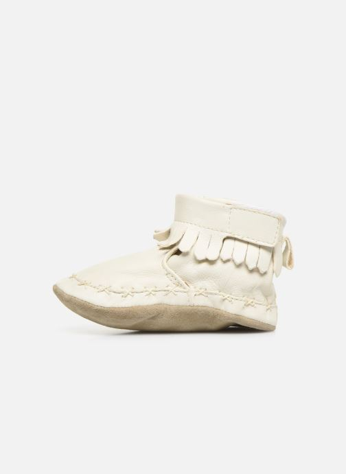 Chaussons Robeez Funky Shoe Blanc vue face