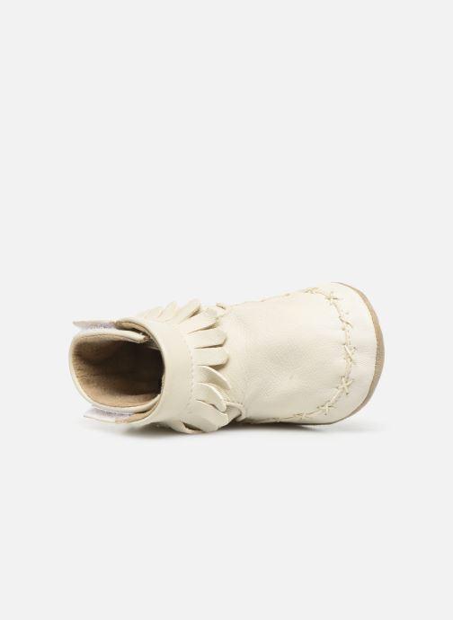 Chaussons Robeez Funky Shoe Blanc vue gauche