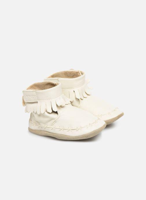 Chaussons Robeez Funky Shoe Blanc vue détail/paire