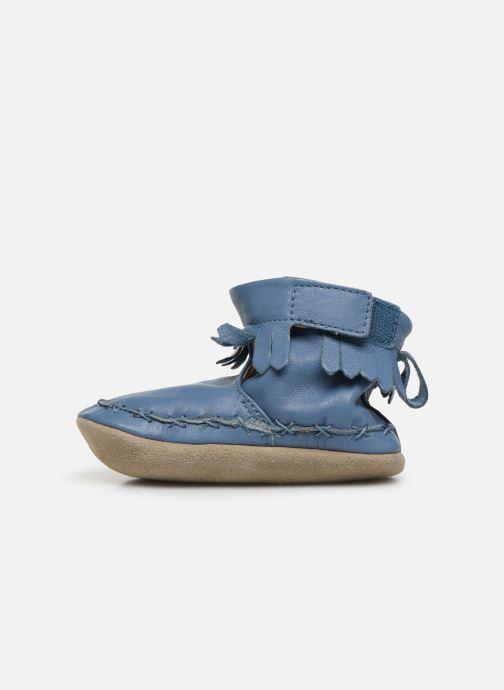 Pantuflas Robeez Funky Shoe Azul vista de frente
