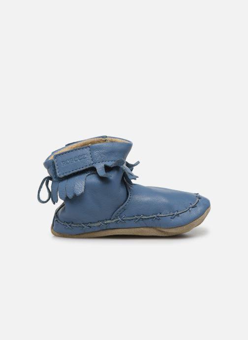 Pantuflas Robeez Funky Shoe Azul vistra trasera