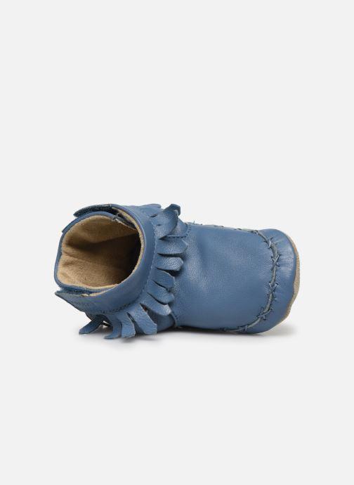 Pantuflas Robeez Funky Shoe Azul vista lateral izquierda